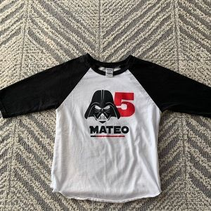 Other - Boys birthday shirt 5 years old Star Wars Mateo